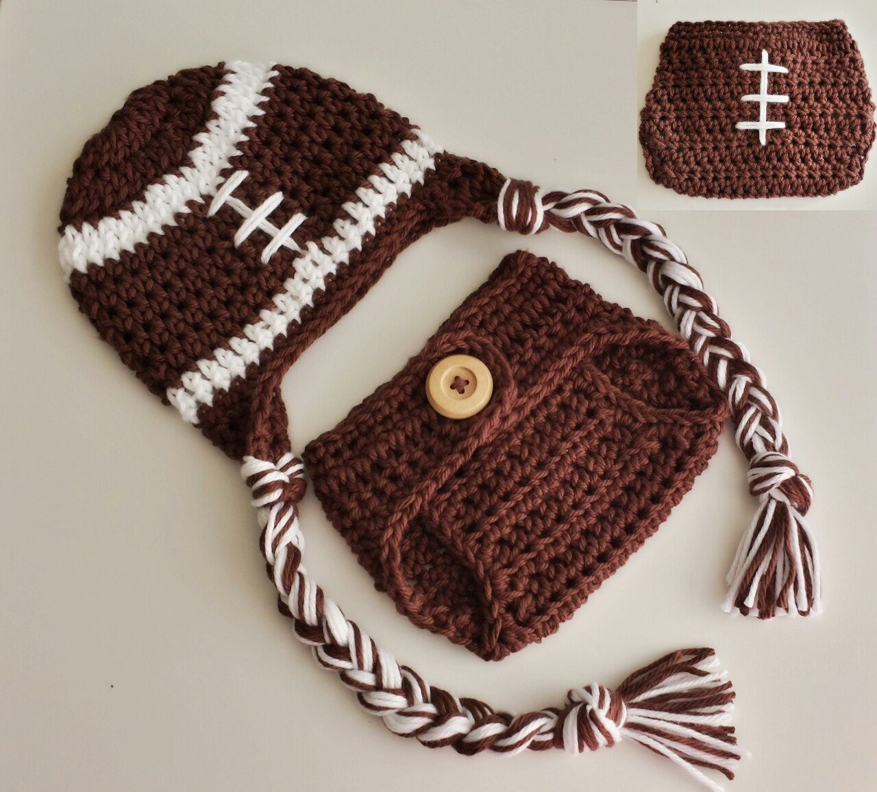 Inspirational Baby Crochet Football Hat and Diaper Cover Set Newborn Crochet Sets Of Lovely 43 Images Crochet Sets