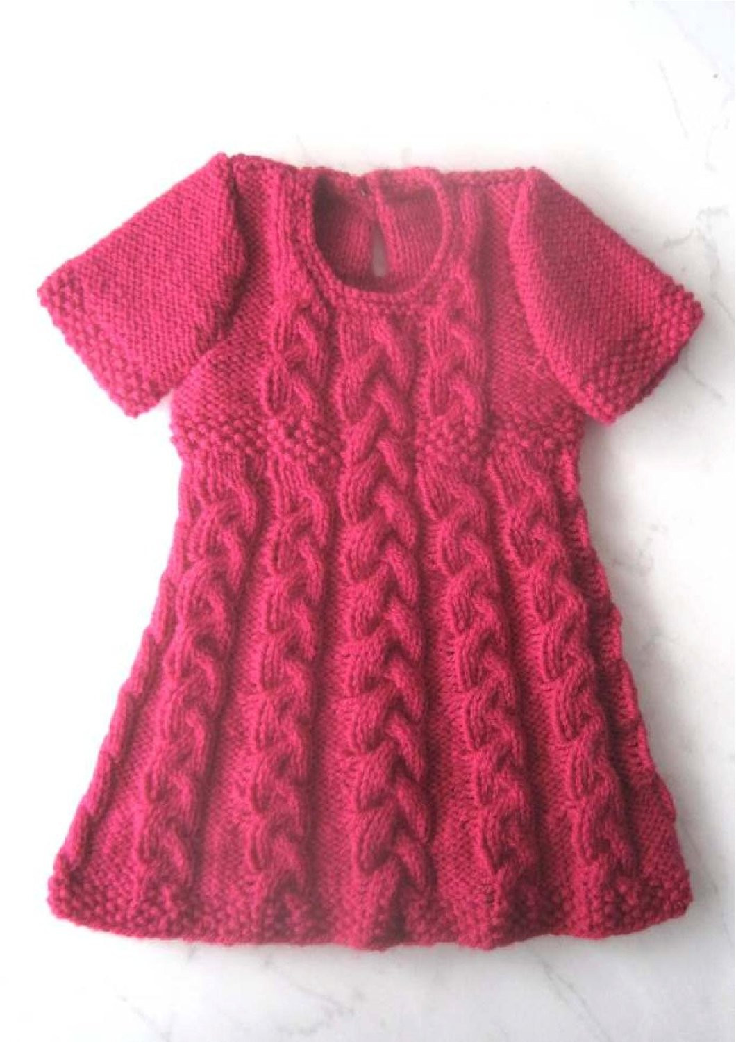 Inspirational Baby Dress Knitting Pattern Instant Download Pdf 6 Knitted Baby Dress Of Brilliant 49 Photos Knitted Baby Dress