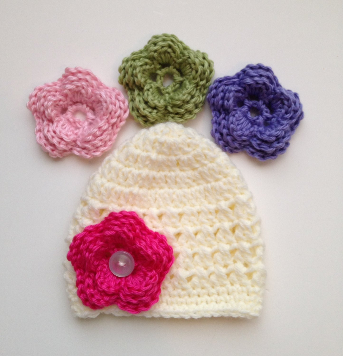 Inspirational Baby Girl Hat Crochet Pattern Newborn Size Flower Hat Crochet Baby Items Of Marvelous 40 Pictures Crochet Baby Items