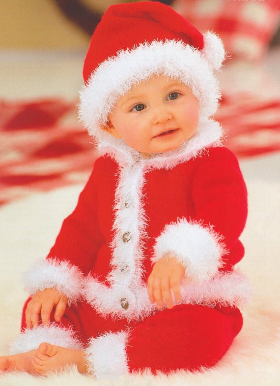 baby knitting pattern knitted santa suit