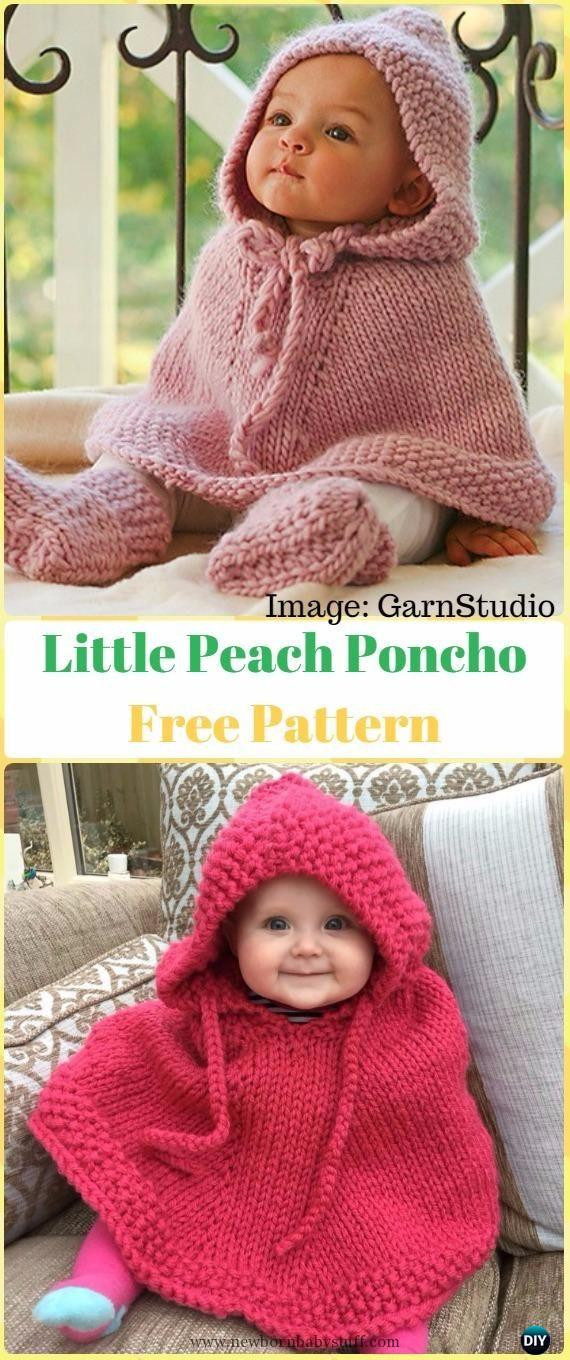 Inspirational Baby Knitting Patterns Knit Little Peach Poncho Free Baby Poncho Pattern Of Gorgeous 49 Images Baby Poncho Pattern