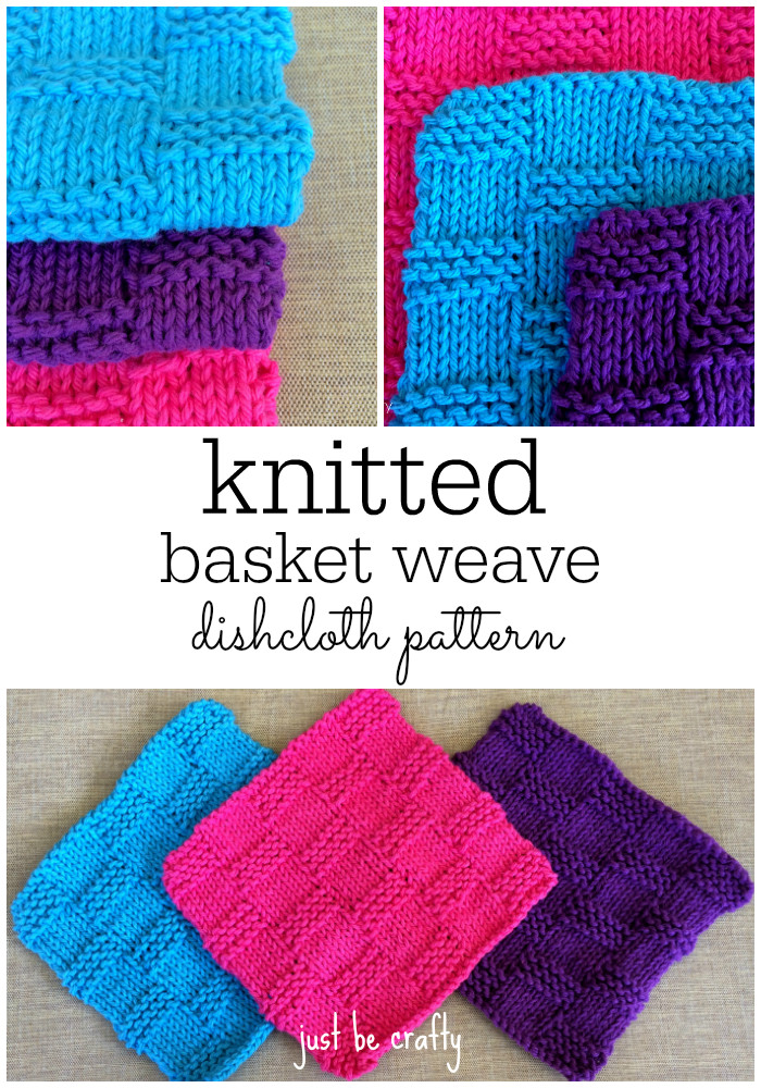Basket Weave Dishcloth Pattern Just Be Crafty