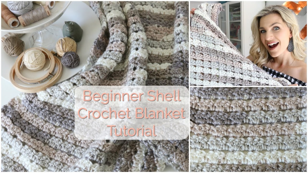 Beginner Shell Crochet Blanket Tutorial