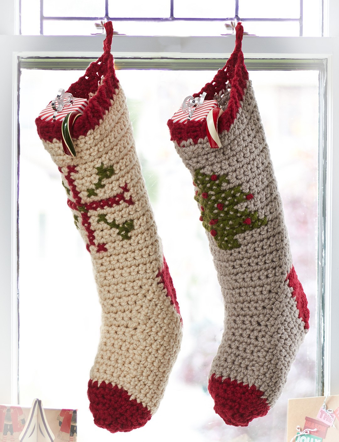 Inspirational Bernat Cross Stitch Stockings Crochet Pattern Crochet Pattern for Christmas Stocking Of Lovely Christmas Stockings Crochet Pattern for Christmas Stocking