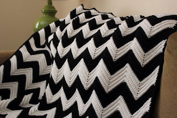 Inspirational Black and White Chevron Crochet Afghan Blanket On Luulla Free Chevron Crochet Pattern Of Top 49 Models Free Chevron Crochet Pattern
