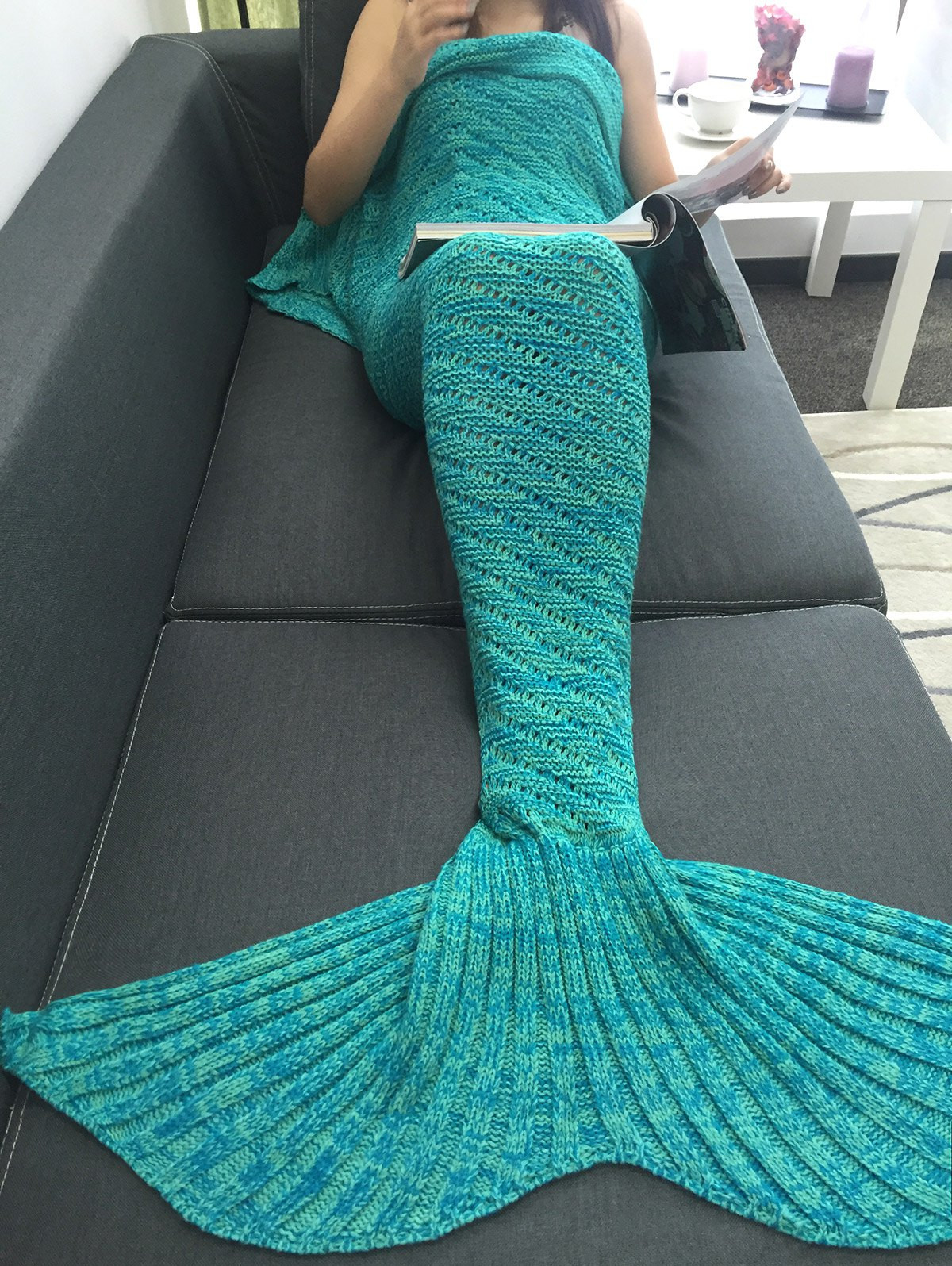 Inspirational Blankets & Throws Knitted Mermaid Blanket Of Great 41 Images Knitted Mermaid Blanket