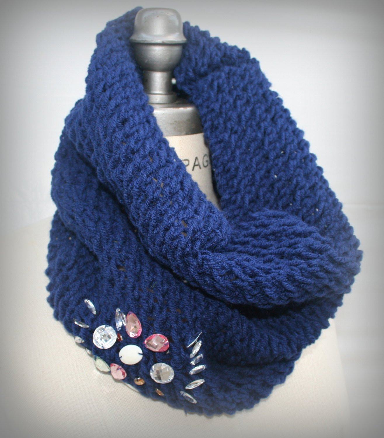 Inspirational Blue Hand Knit Cowl Handknit Cowl Scarf Jewellery Loop Cowl Scarf Of Innovative 48 Photos Cowl Scarf