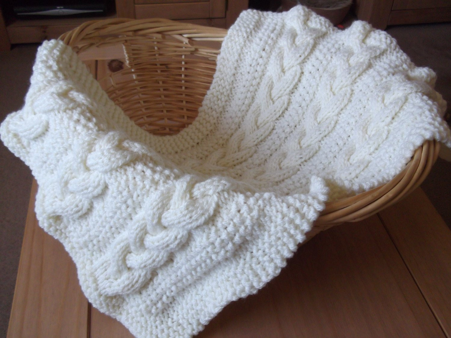 Inspirational Braided Cable Baby Blanket Basket Stuffer by Cable Knit Baby Blanket Of Amazing 41 Photos Cable Knit Baby Blanket