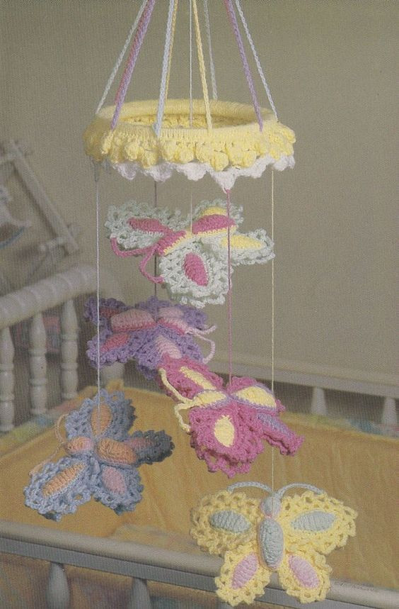 Inspirational butterfly Mobile Crochet Pattern Crochet Crochet Baby Mobile Of Amazing 42 Ideas Crochet Baby Mobile