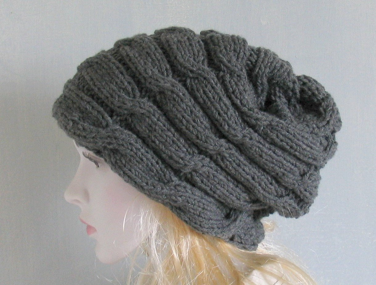 Inspirational Cable Knit Hat Slouchy Beanie Chunky Knit Winter Accessories Slouchy Winter Hat Of Top 47 Models Slouchy Winter Hat