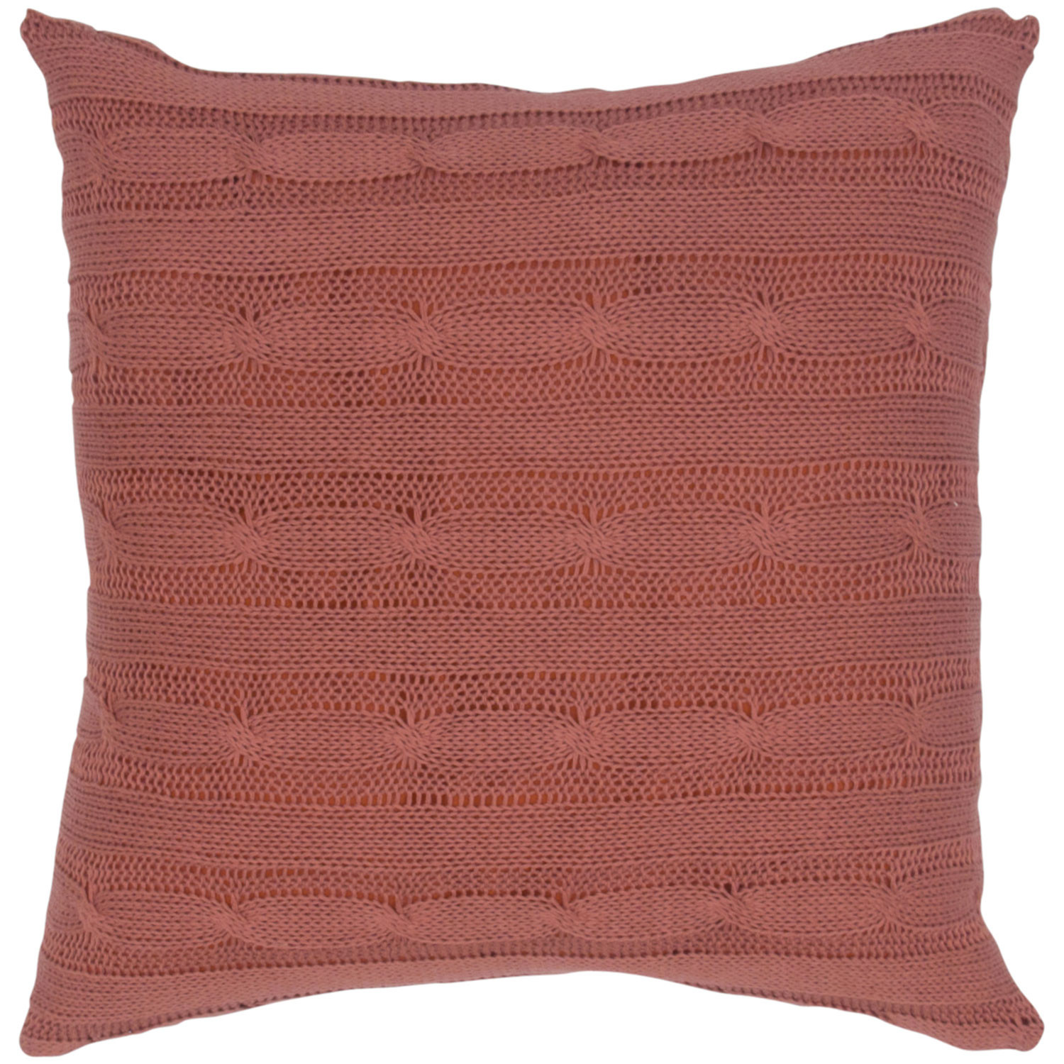 rizzy rugs pilt ru cable knit rust 18 inch throw pillow