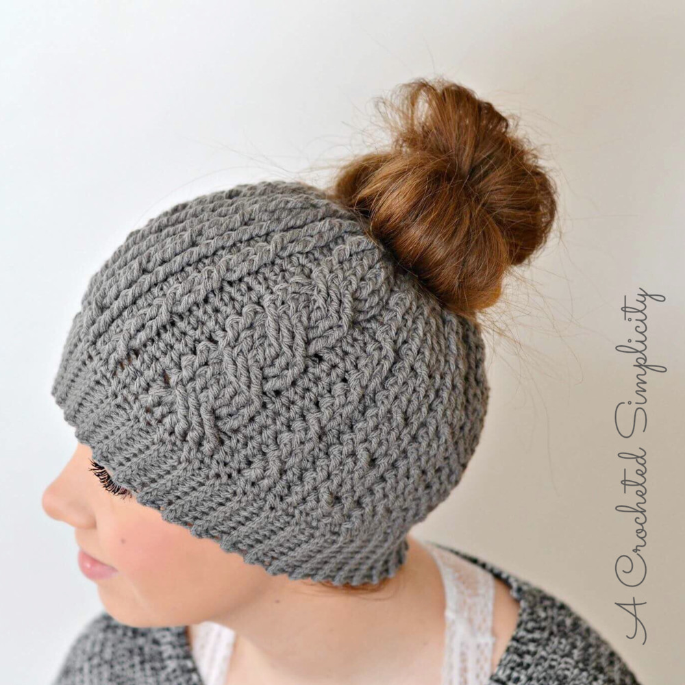 Inspirational Cabled Messy Bun Hat Crochet Messy Bun Of Contemporary 41 Images Crochet Messy Bun