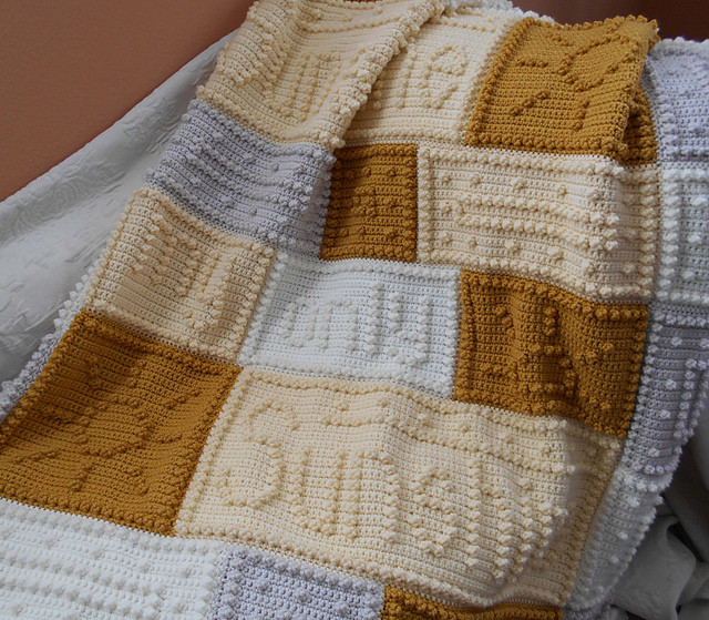 cancer support motif lap blanket free pattern