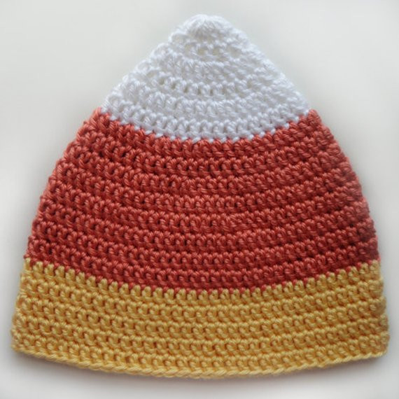 Inspirational Candy Corn Hat 5 Sizes Pdf Crochet Pattern Instant Candy Corn Hat Of Incredible 42 Pictures Candy Corn Hat