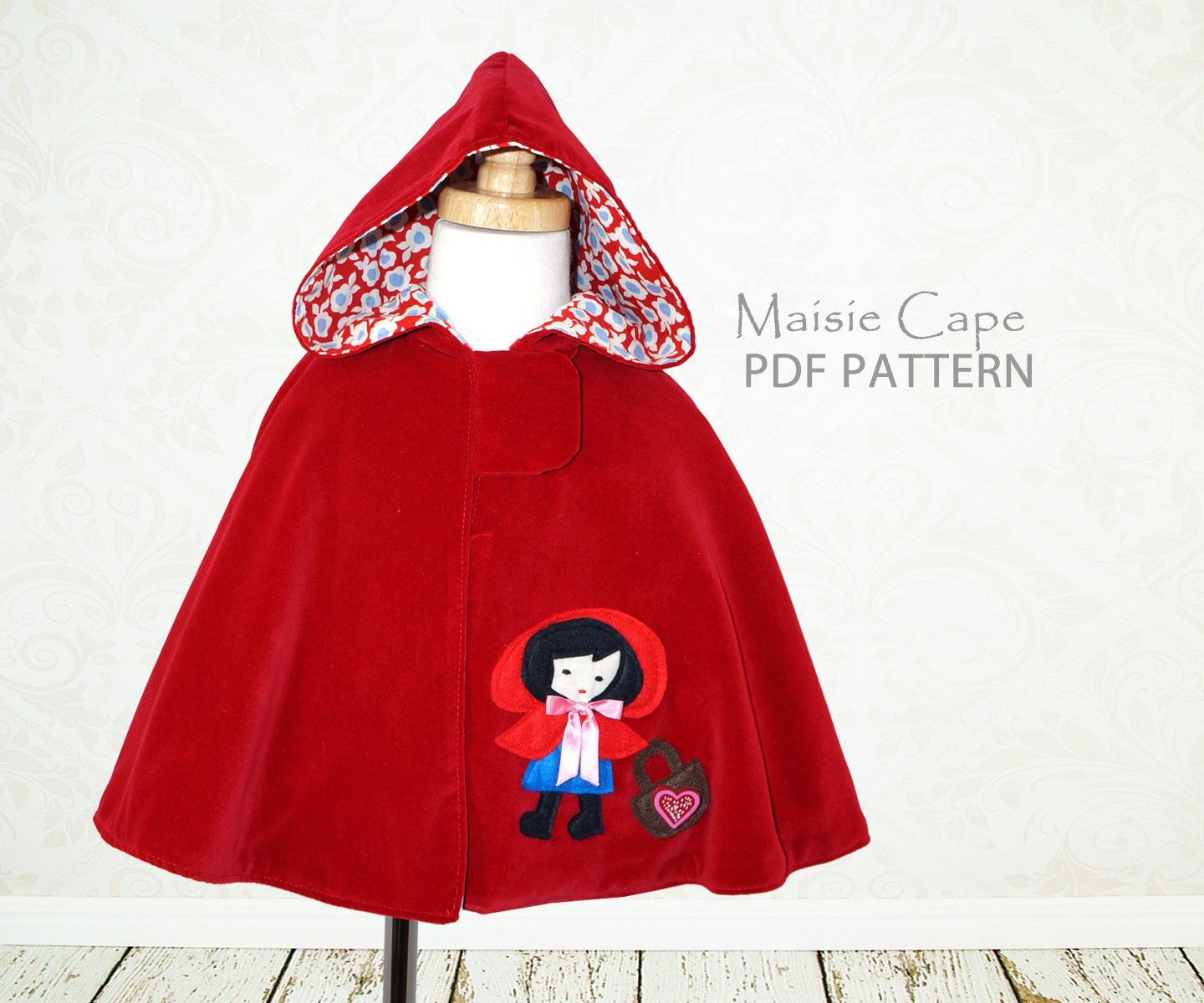Inspirational Cape Pattern Girls Pdf Sewing Pattern by Mychildhoodtreasures Red Riding Hood Cape Pattern Of Charming 43 Pictures Red Riding Hood Cape Pattern