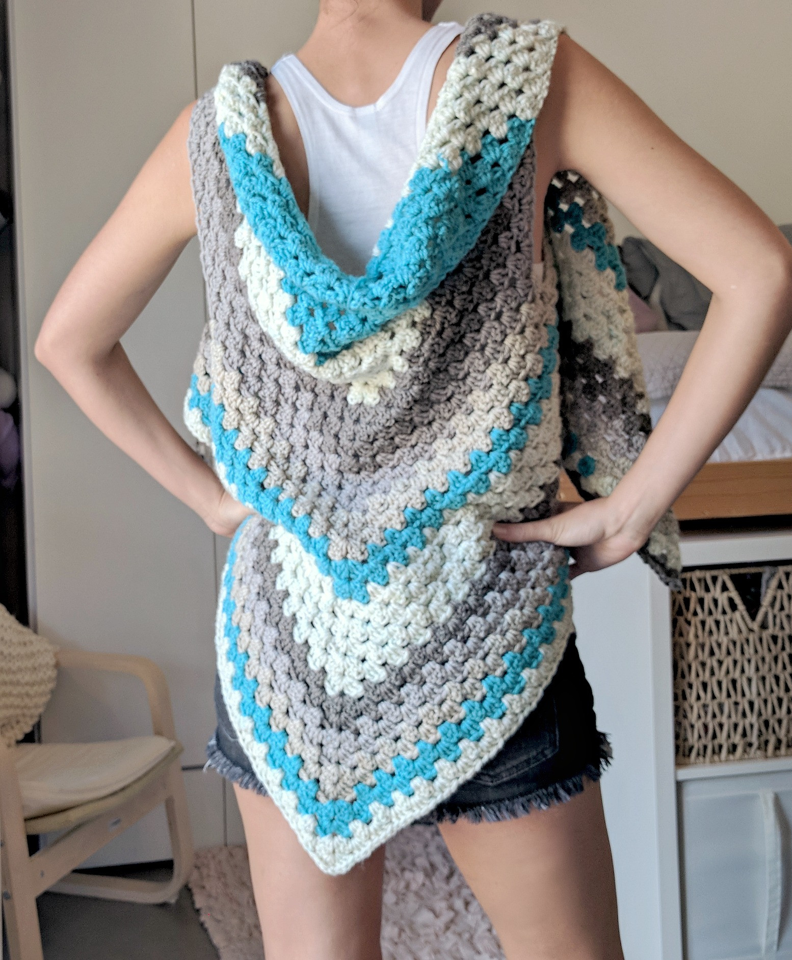 Inspirational Caron Cake Triangle Shawl Scarf the Versatile Vest Caron Crochet Patterns Of Perfect 43 Pictures Caron Crochet Patterns