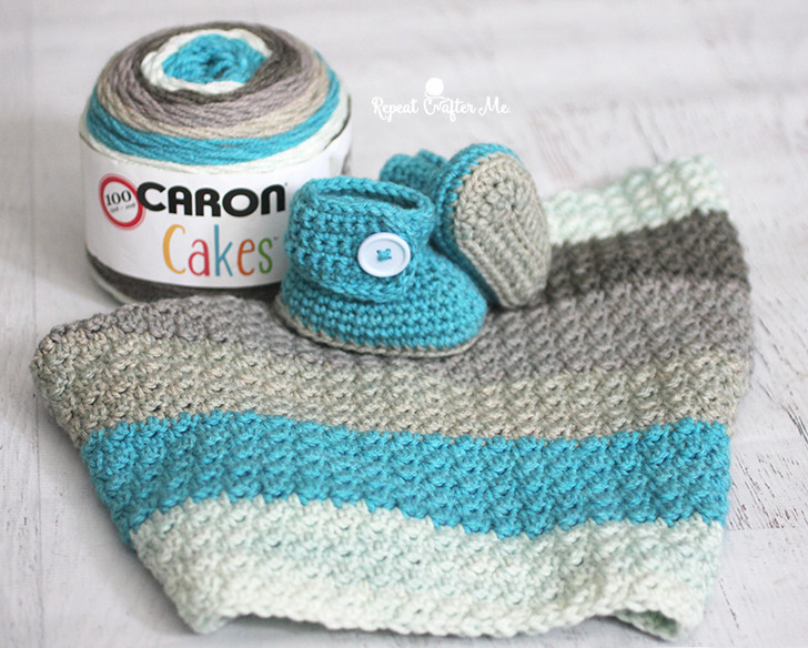 Inspirational Caron Cakes Yarn button Baby Booties and Blanket Repeat Caron Baby Cakes Yarn Of Innovative 50 Images Caron Baby Cakes Yarn