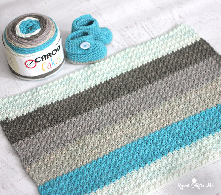 Inspirational Caron Cakes Yarn button Baby Booties and Blanket Repeat Michaels Caron Cakes Of Superb 43 Ideas Michaels Caron Cakes