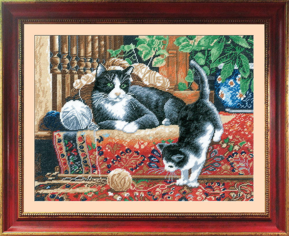 Inspirational Cats the Carpet Counted Cross Stitch Kit with Color Cat Cross Stitch Kits Of Perfect 42 Pics Cat Cross Stitch Kits