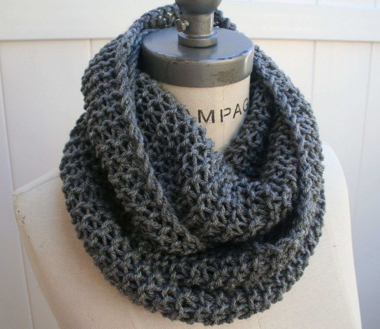 Inspirational Chain Scarf Knitted Infinity Scarf Grey Cowl Scarf by Knit Cowl Scarf Of Gorgeous 41 Pictures Knit Cowl Scarf