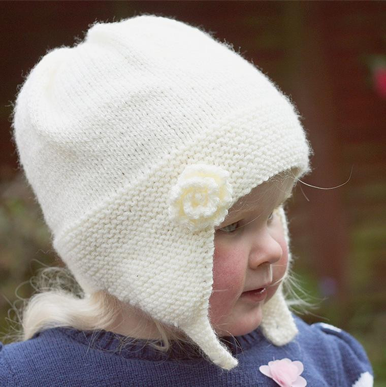 Inspirational Charlotte Earflap Baby Hat with Flower by Julie Taylor Earflap Hat Knitting Pattern Of Gorgeous 41 Models Earflap Hat Knitting Pattern