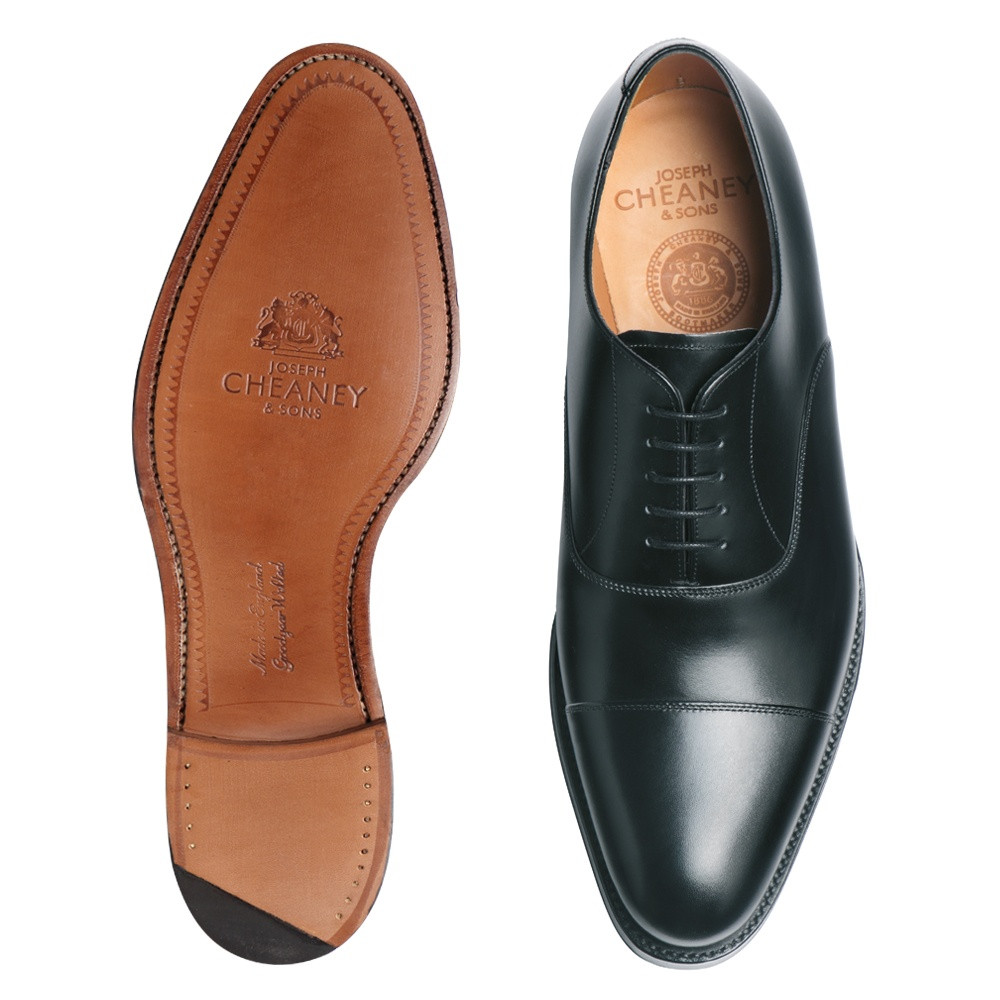 Inspirational Cheaney Lime Men S Black Leather Oxford Shoe Leather sole Slippers Of Fresh 46 Models Leather sole Slippers