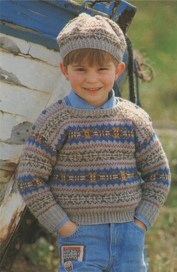 Inspirational Childrens Fair isle Sweater and Beret Knitting Pattern Knitting Patterns for Childrens Sweaters Of Charming 47 Models Knitting Patterns for Childrens Sweaters
