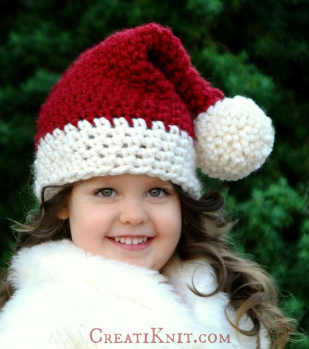 Inspirational Christmas Hats for Newborn to Adult Free Crochet Patterns Santa Hat Pattern Of Unique Musings Of A Knit A Holic From Wales Knitting Pattern Santa Hat Pattern