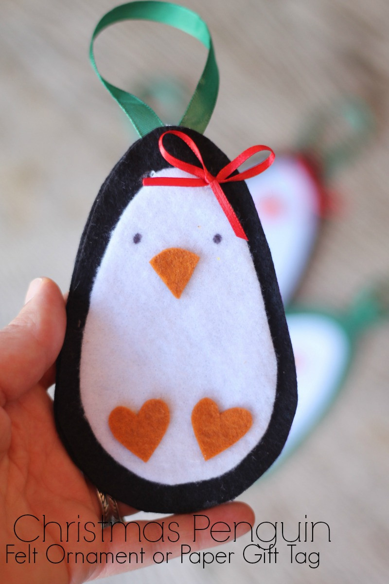 Christmas Penguin Ornament and Tag – Do Small Things with