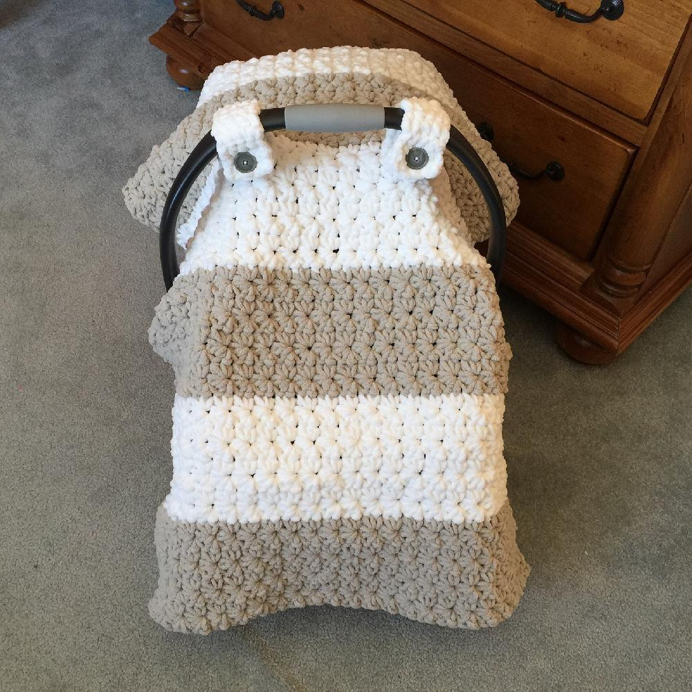 Chunky Star Stitch Car Seat Canopy Cover