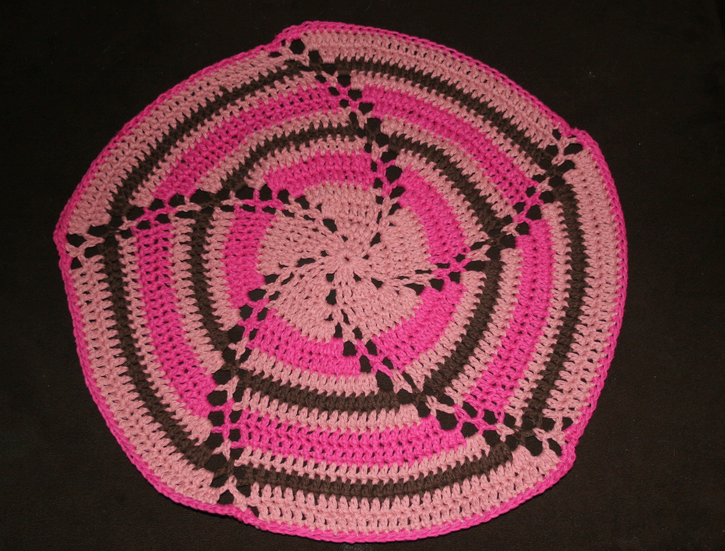 crochet baby blanket circle pattern