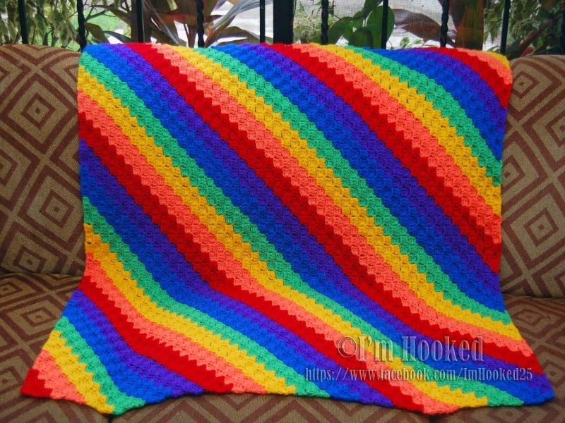 Inspirational Corner to Corner Afghan In Rainbow Colors Rainbow Crochet Blanket Of Great 40 Photos Rainbow Crochet Blanket