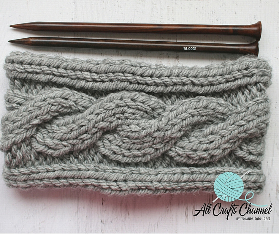 Cowl Knit Pattern So fy and quick All Crafts Channel