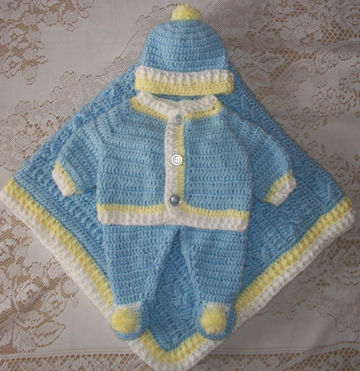 Inspirational Crochet Baby Boy Sweater Set Layette Outfit with Cable Blanket Crochet Baby Sweater Sets Of Charming 43 Photos Crochet Baby Sweater Sets