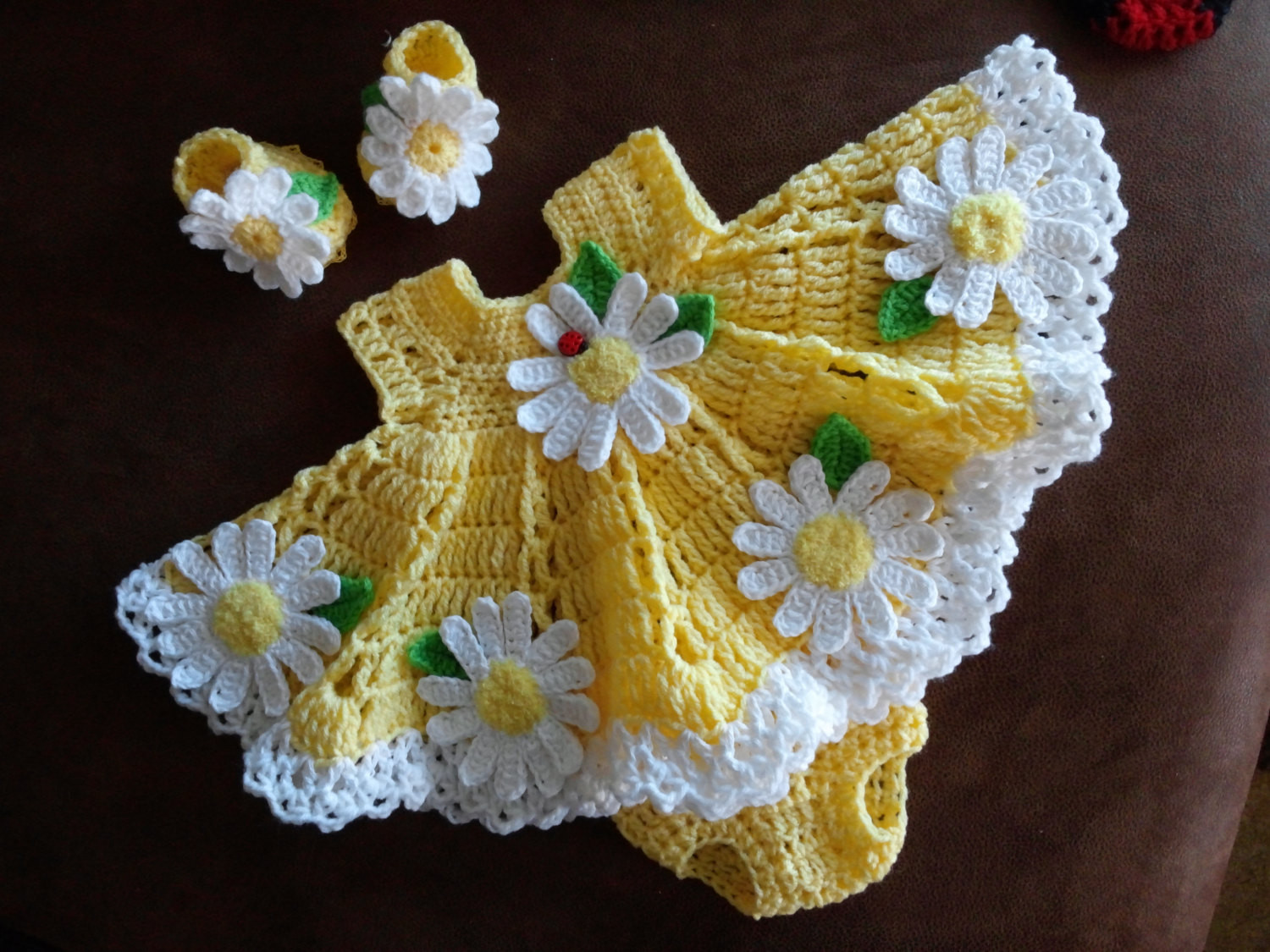 Inspirational Crochet Baby Dress Set with Daisies Crochet Baby Stuff Of Superb 43 Models Crochet Baby Stuff