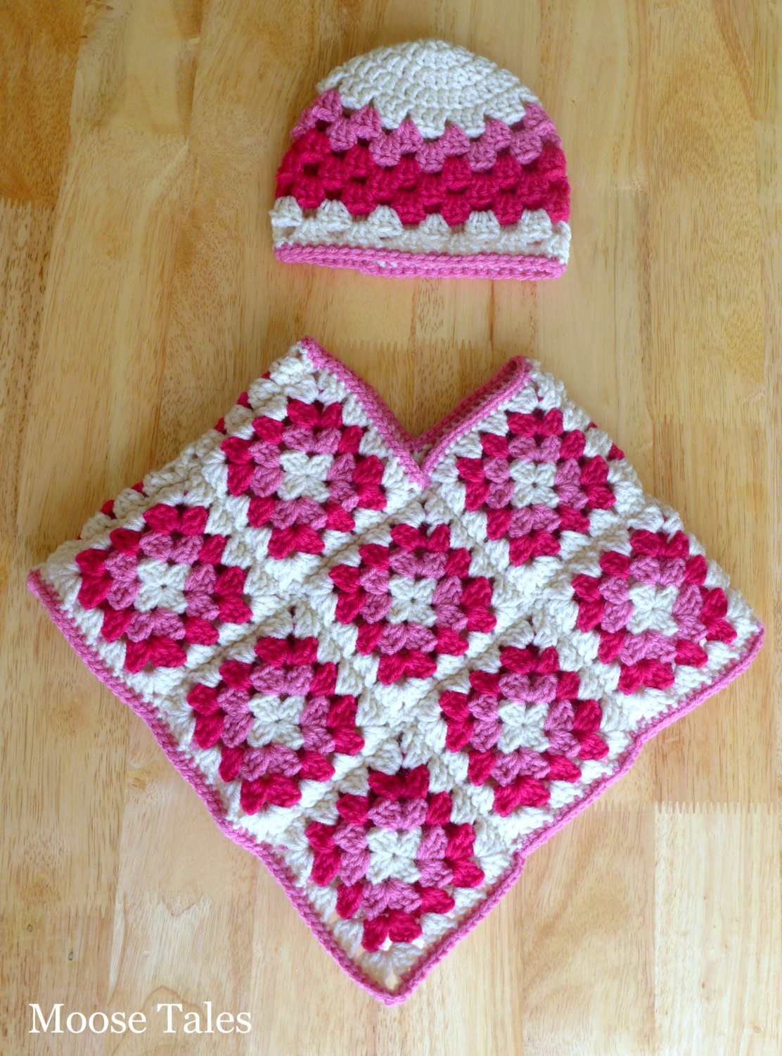 Crochet Baby Poncho Hat Set 6 Months Baby Crochet by