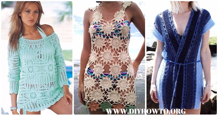 Inspirational Crochet Beach Cover Up Free Patterns Women Summer top Crochet Beach Cover Ups Patterns Of Beautiful 40 Models Crochet Beach Cover Ups Patterns