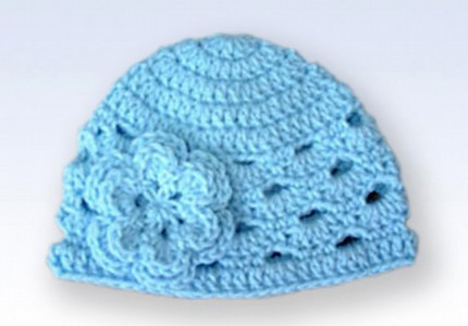 Inspirational Crochet Beanie Hat Cap with Flower Baby Blue Crochet Flower for Baby Hat Of Beautiful 42 Ideas Crochet Flower for Baby Hat