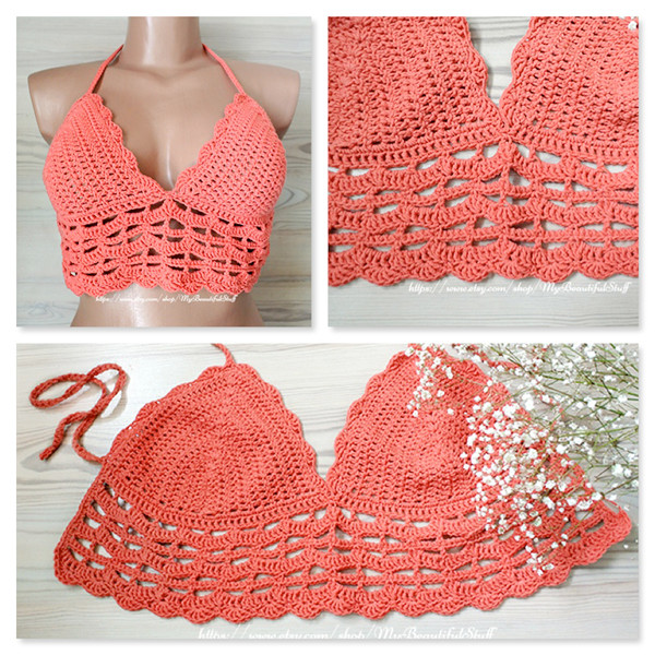 Crochet Bralette Top Pattern
