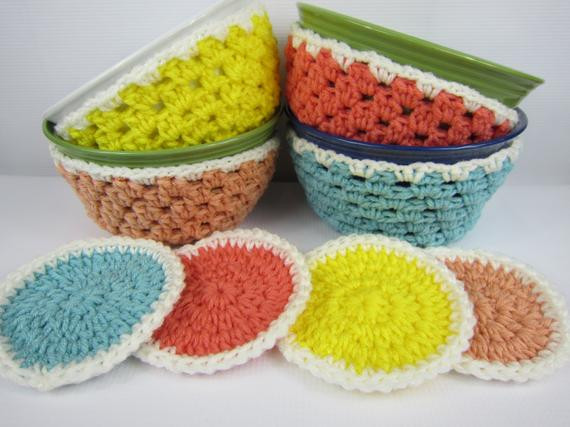 Inspirational Crochet Coasters Crochet Bowl Cozy Kitchen by Crochet Bowl Cozy Of New 36 Images Crochet Bowl Cozy