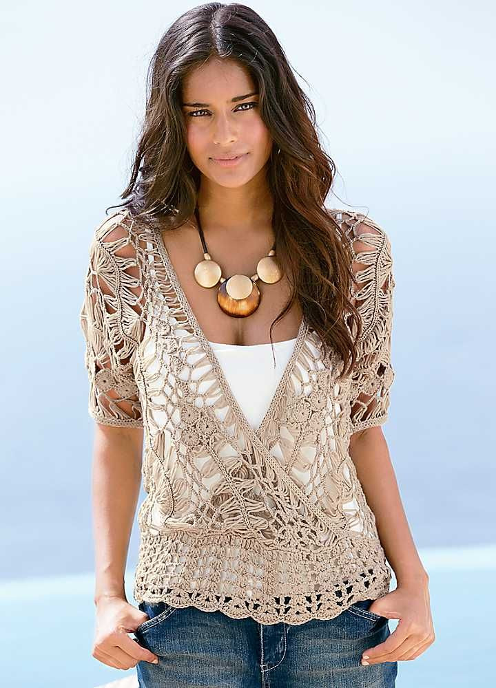 Inspirational Crochet Fashion On Pinterest Crochet Blouse Of Superb 46 Models Crochet Blouse