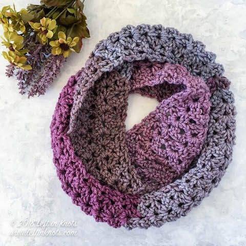Inspirational Crochet Frosted Berry Infinity Scarf A Free E Skein Caron Tea Cakes Of Perfect 42 Pictures Caron Tea Cakes