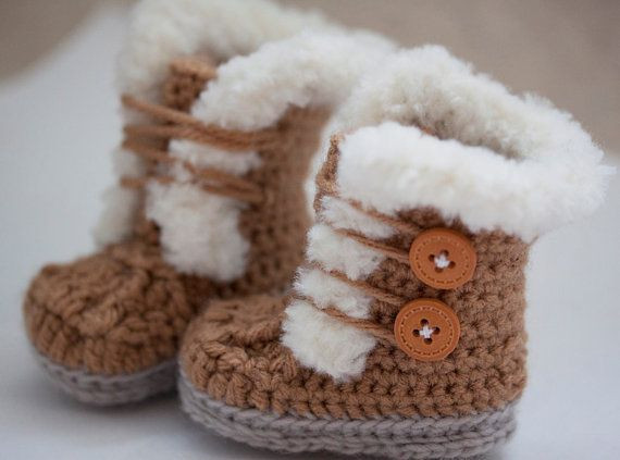 Inspirational Crochet Fur Trim Baby Booties Ugg Style Super Cute Crochet Ugg Of New 40 Ideas Crochet Ugg
