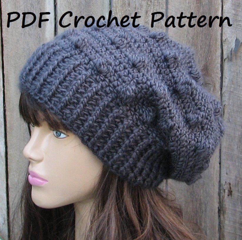 Inspirational Crochet Hats On Pinterest Slouchy Beanie Crochet Pattern Free Of Awesome 45 Pics Slouchy Beanie Crochet Pattern Free