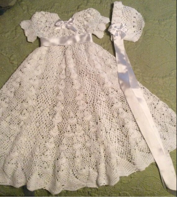 Inspirational Crochet Heirloom Vintage Style Christening Pdf Pattern Christening Dress Patterns Of Awesome 43 Ideas Christening Dress Patterns
