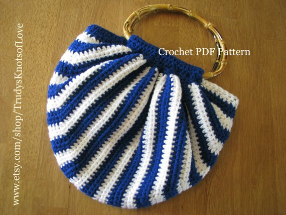 Crochet Hobo Purse PDF PatternCrochet Purse PatternTote Bag