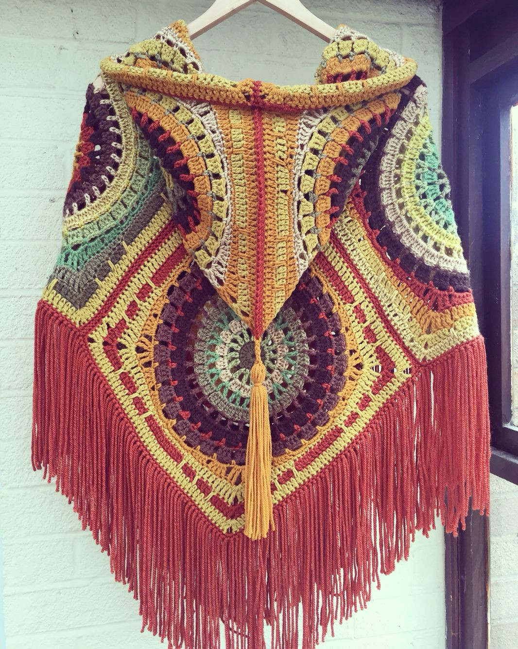 Inspirational Crochet Hooded Poncho In Lovely Autumn Colours Seventies Crochet Poncho with Hood Of Fresh 40 Pictures Crochet Poncho with Hood