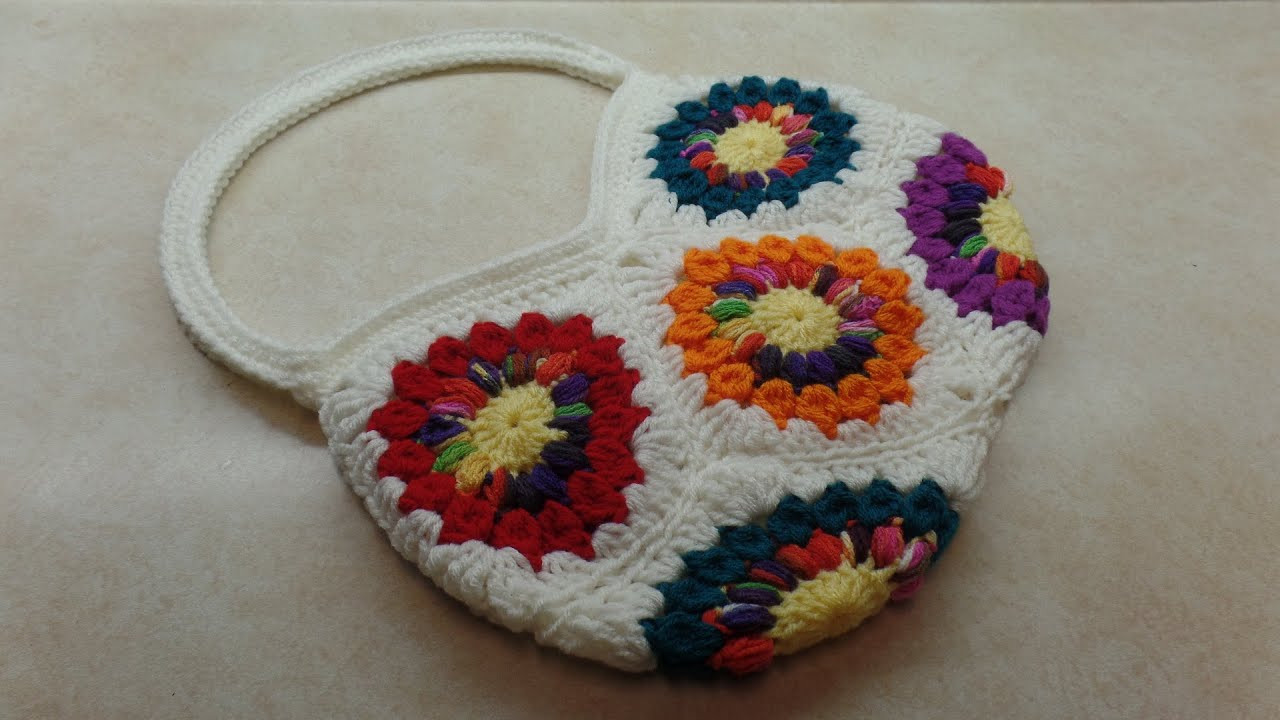 Inspirational Crochet How to Crochet 8 Granny Square Handbag Purse Granny Square Tutorial Of Charming 40 Ideas Granny Square Tutorial