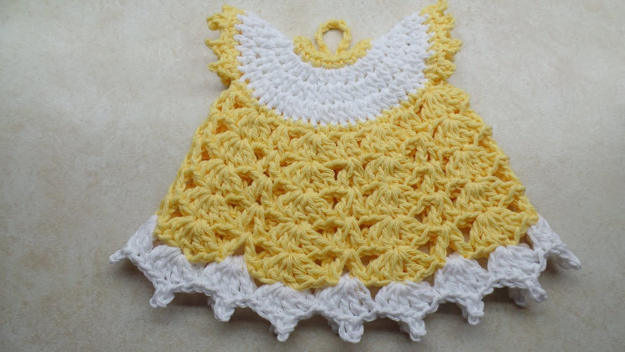 CROCHET How to Crochet Vintage Style Potholder Dress