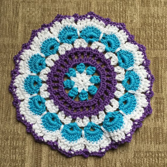 Inspirational Crochet Mandala Table Mat Doily Crochet Table Mat Of Gorgeous 47 Ideas Crochet Table Mat